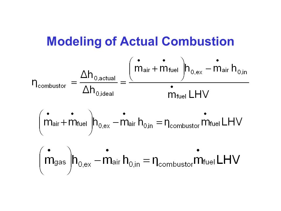Modeling of Ideal Combustion