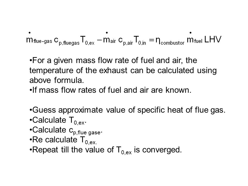 Specific Heat of flue gas :