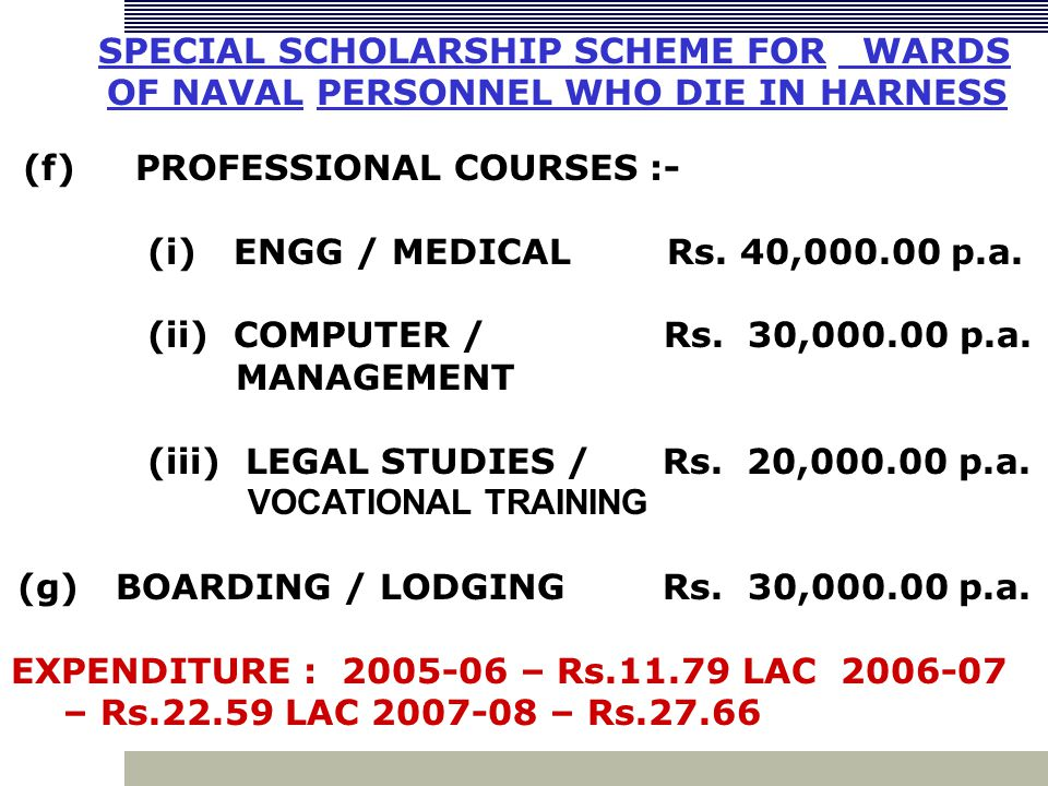 (f) PROFESSIONAL COURSES :- (i) ENGG / MEDICAL Rs.