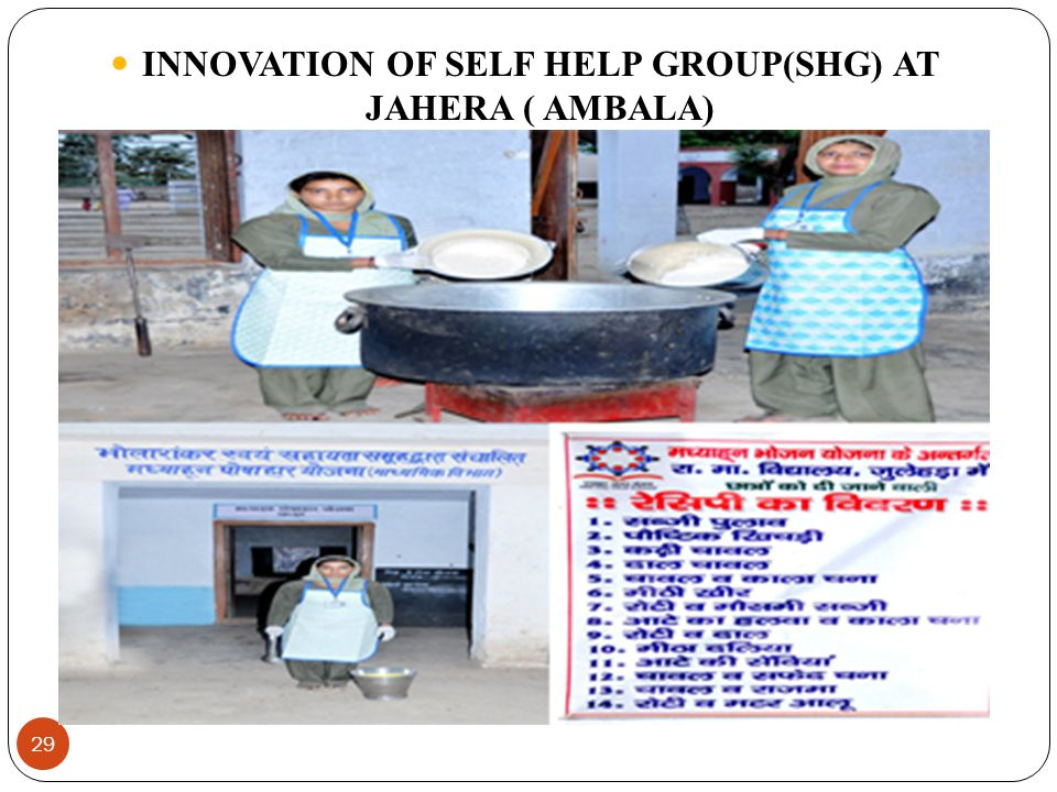 29 INNOVATION OF SELF HELP GROUP(SHG) AT JAHERA ( AMBALA)