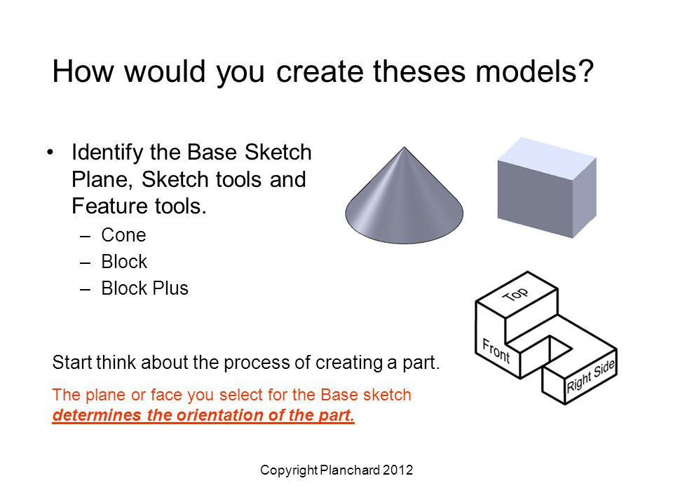 Copyright Planchard 2012 How would you create theses models.