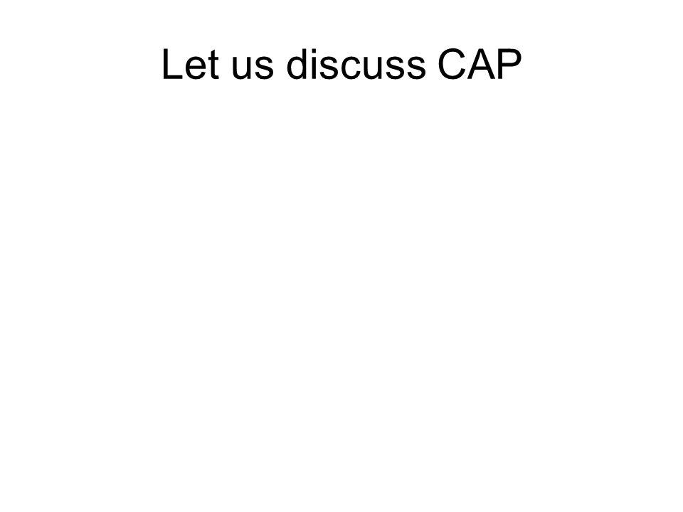 Let us discuss CAP