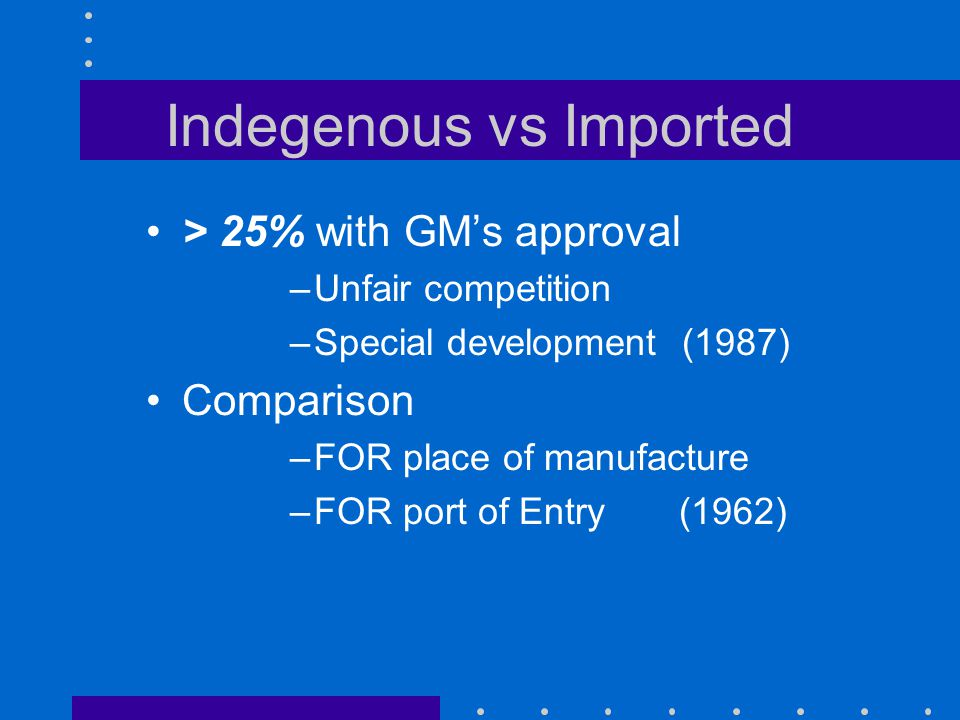 Indegenous vs Imported Each case on merits, with Finance Approval of next higher authority reqd where indigenous offer, higher in price, is being ignored.