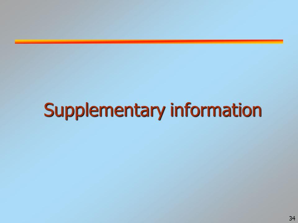34 Supplementary information