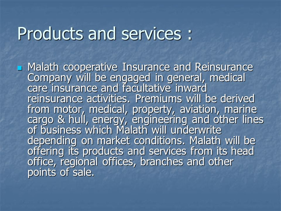 Health insurance : The policy of Malath assure providing the best complete programs of health care coverage to all levels within the groups, companies and individuals.
