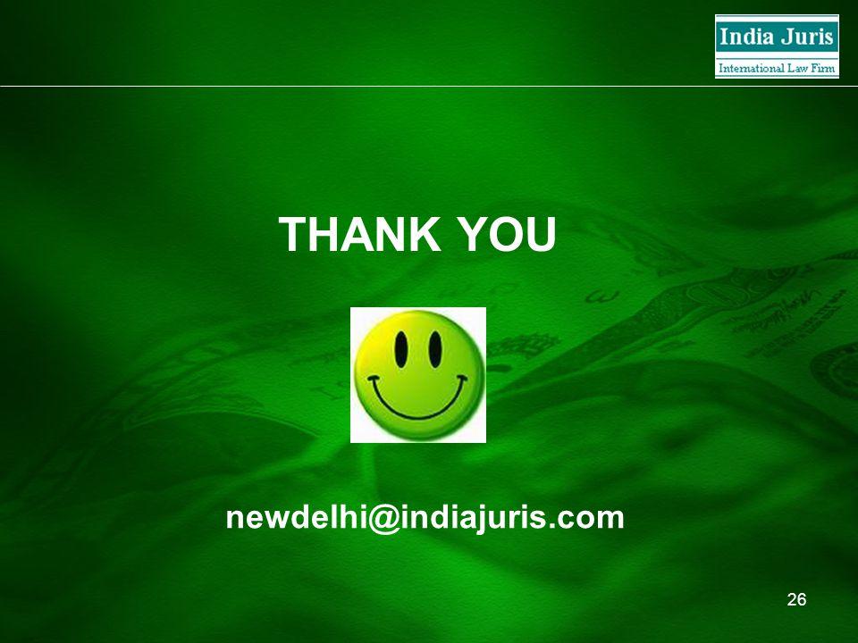 26 THANK YOU newdelhi@indiajuris.com