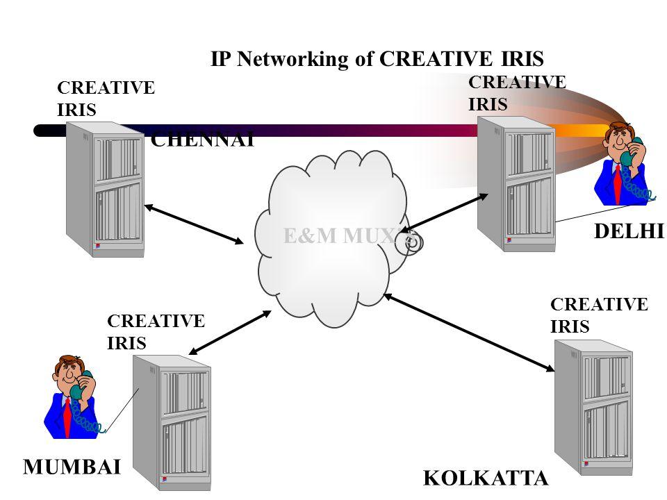 E&M MUX'S IP Networking of CREATIVE IRIS CREATIVE IRIS DELHI MUMBAI CHENNAI KOLKATTA