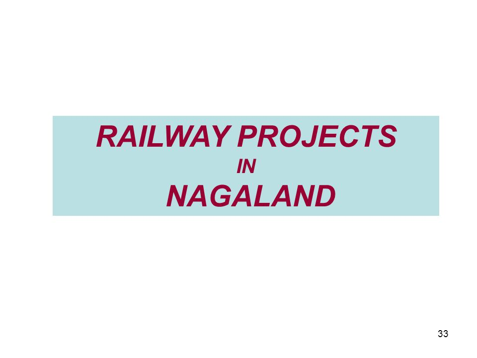 RAILWAY PROJECTS IN NAGALAND 33