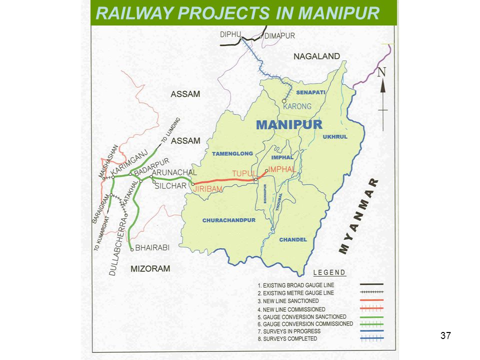 RAILWAY PROJECTS IN MANIPUR 37