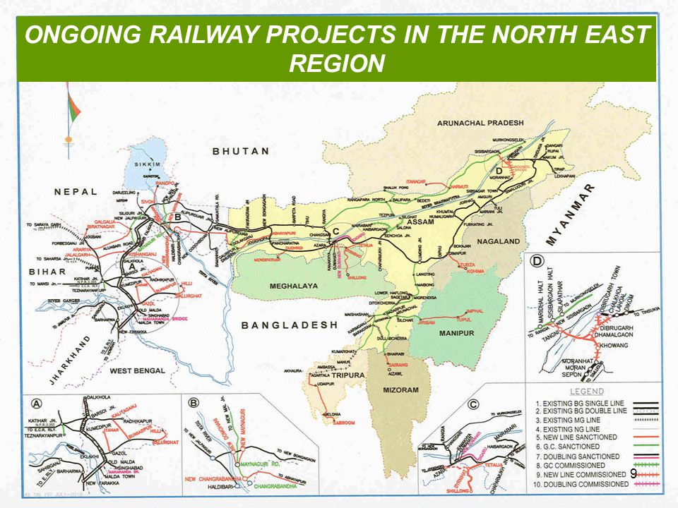 ONGOING RAILWAY PROJECTS IN THE NORTH EAST REGION 9