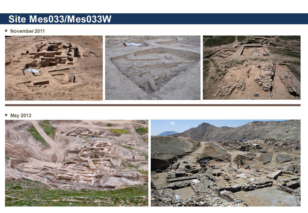 November 2011 Site Mes033/Mes033W May 2013