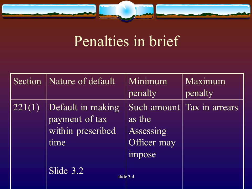 slide 3.4 Heads of income (Section 14)  The several heads into which income is divided under the Act do not make different kinds of taxes.