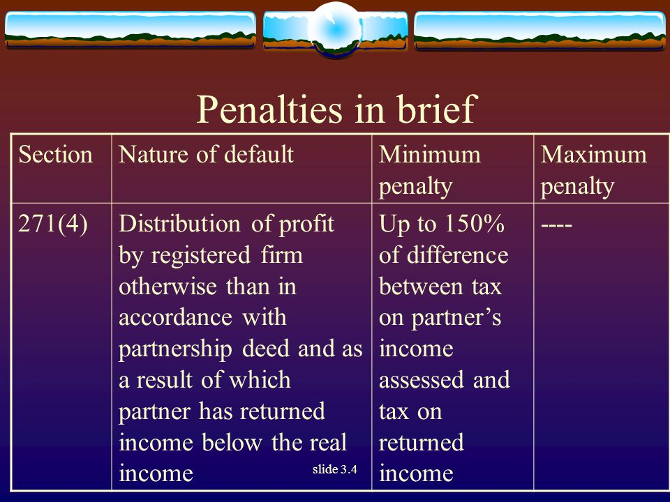 slide 3.4 Chapter VII  Charge of tax on member's share in AOP/BOI - The share of a member in the income of the association or body is treated in three different ways, depending upon whether the association or body is chargeable to tax at the maximum marginal rate or at the normal rate or is not chargeable to tax at all.