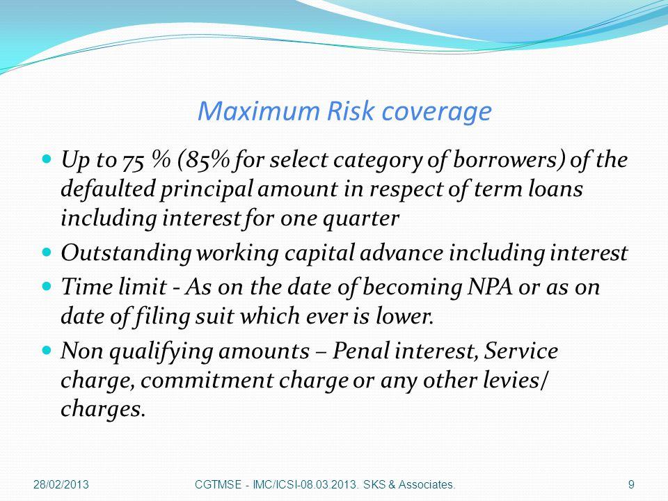 CGTMSE - IMC/ICSI-08.03.2013. SSK & Associates.20
