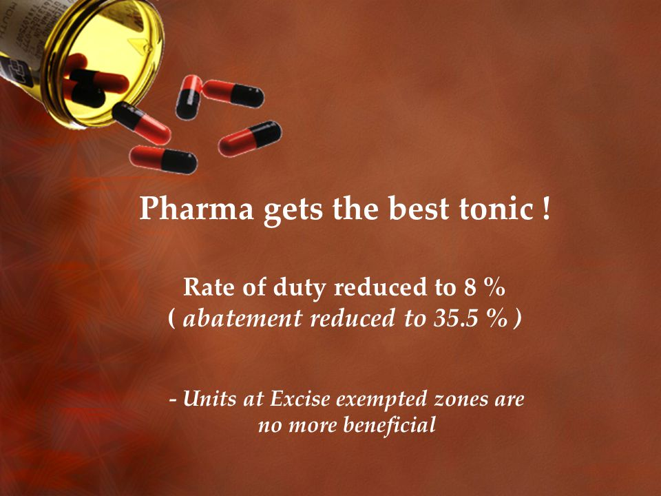 Pharma gets the best tonic .