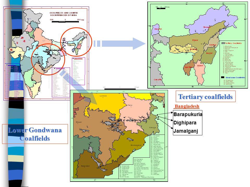 Lower Gondwana Coalfields Tertiary coalfields Barapukuria Dighipara Jamalganj Bangladesh