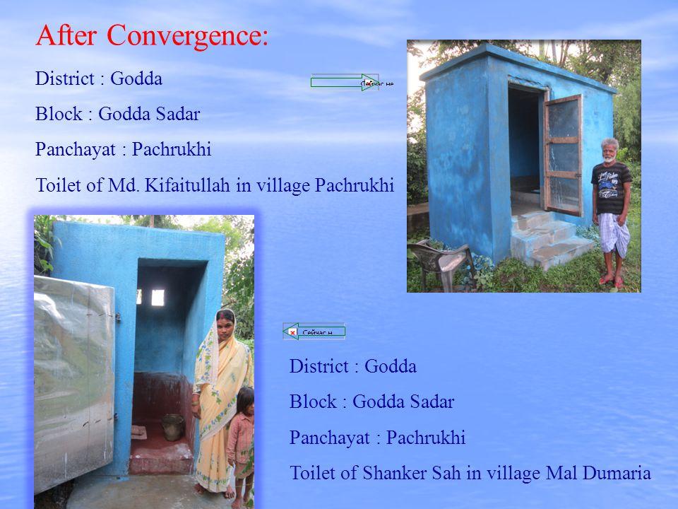 After Convergence: District : Godda Block : Godda Sadar Panchayat : Pachrukhi Toilet of Md.