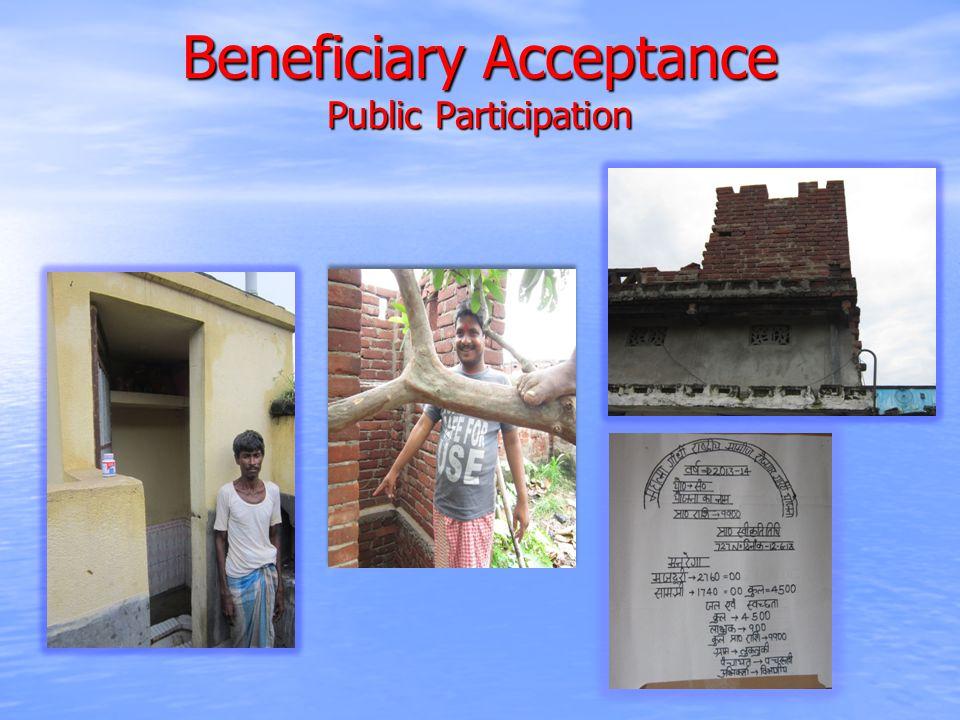 Beneficiary Acceptance Public Participation