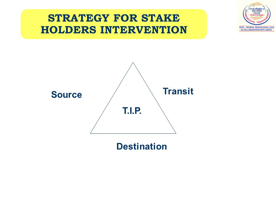 STRATEGY FOR STAKE HOLDERS INTERVENTION Source Transit Destination T.I.P.