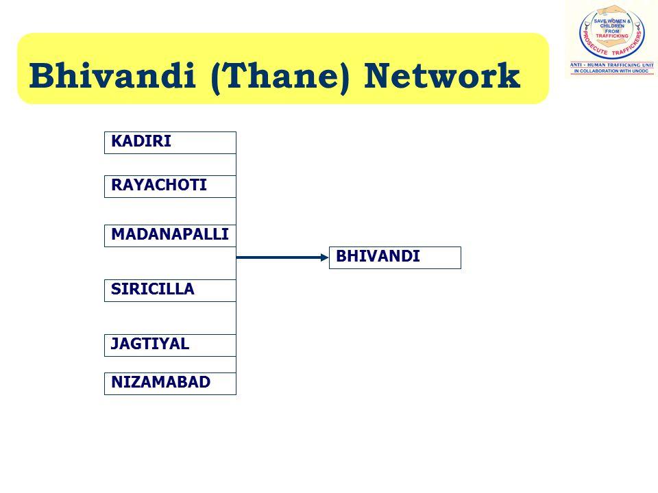 Bhivandi (Thane) Network KADIRI RAYACHOTI MADANAPALLI SIRICILLA JAGTIYAL NIZAMABAD BHIVANDI