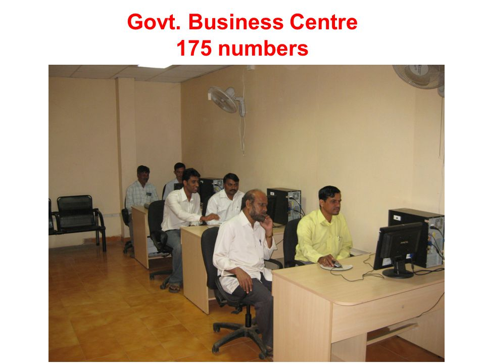 Govt. Business Centre 175 numbers