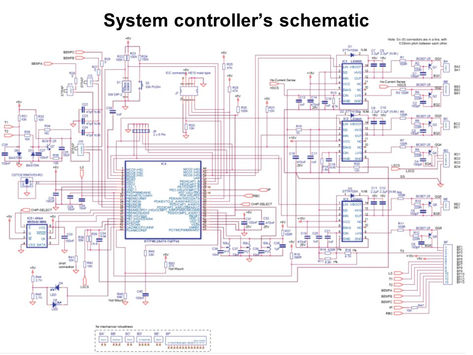System controller's schematic