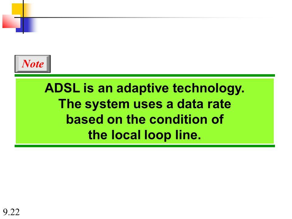 9.22 ADSL is an adaptive technology.
