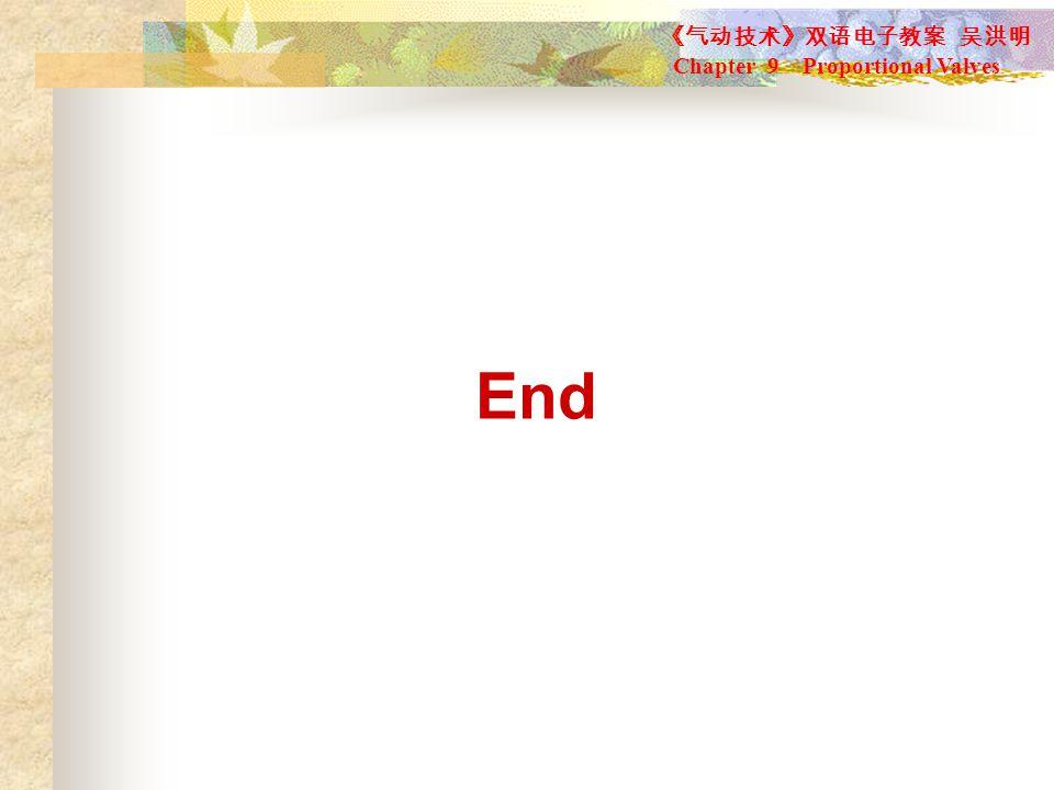 《气动技术》双语电子教案 吴洪明 Chapter 9 Proportional Valves End