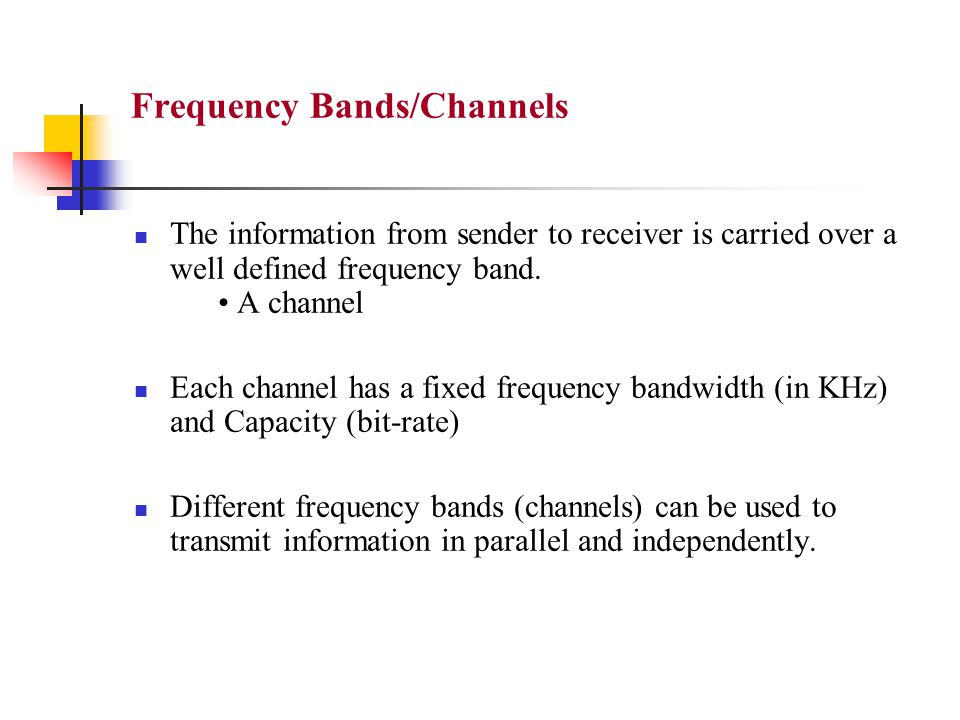 Simplex Communication Normally, on a channel, a station can transmit only in one way.