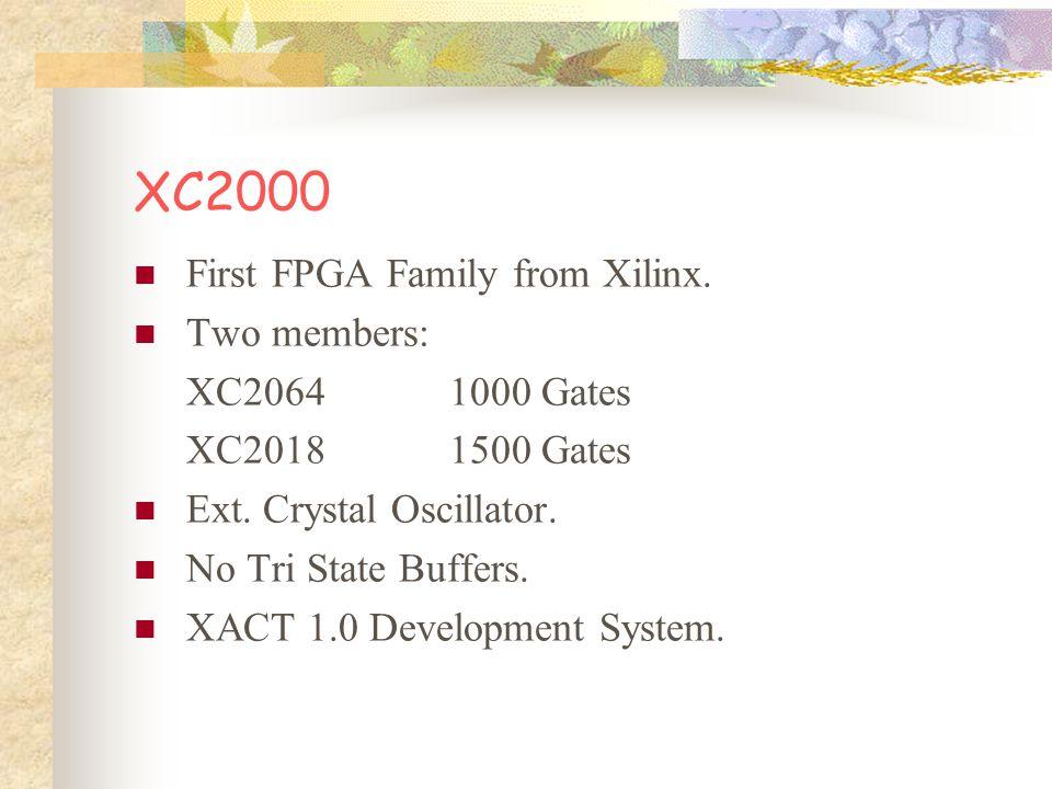XC2000 Max.Logic Gates 1500 Max. CLB Flip-flop100 Max. I/O Pins74 Max. I/O Flip-Flop74