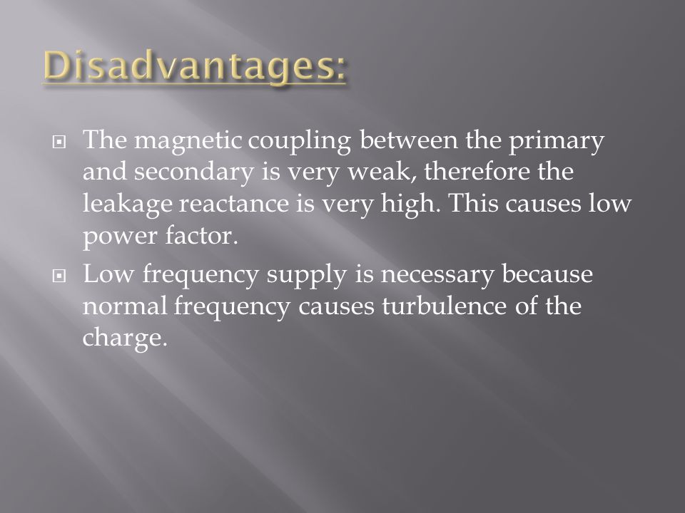  The magnetic coupling between the primary and secondary is very weak, therefore the leakage reactance is very high.