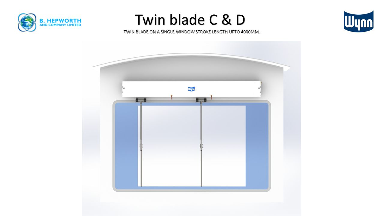Twin blade C & D on two windows Also available as a triple blade on three windows