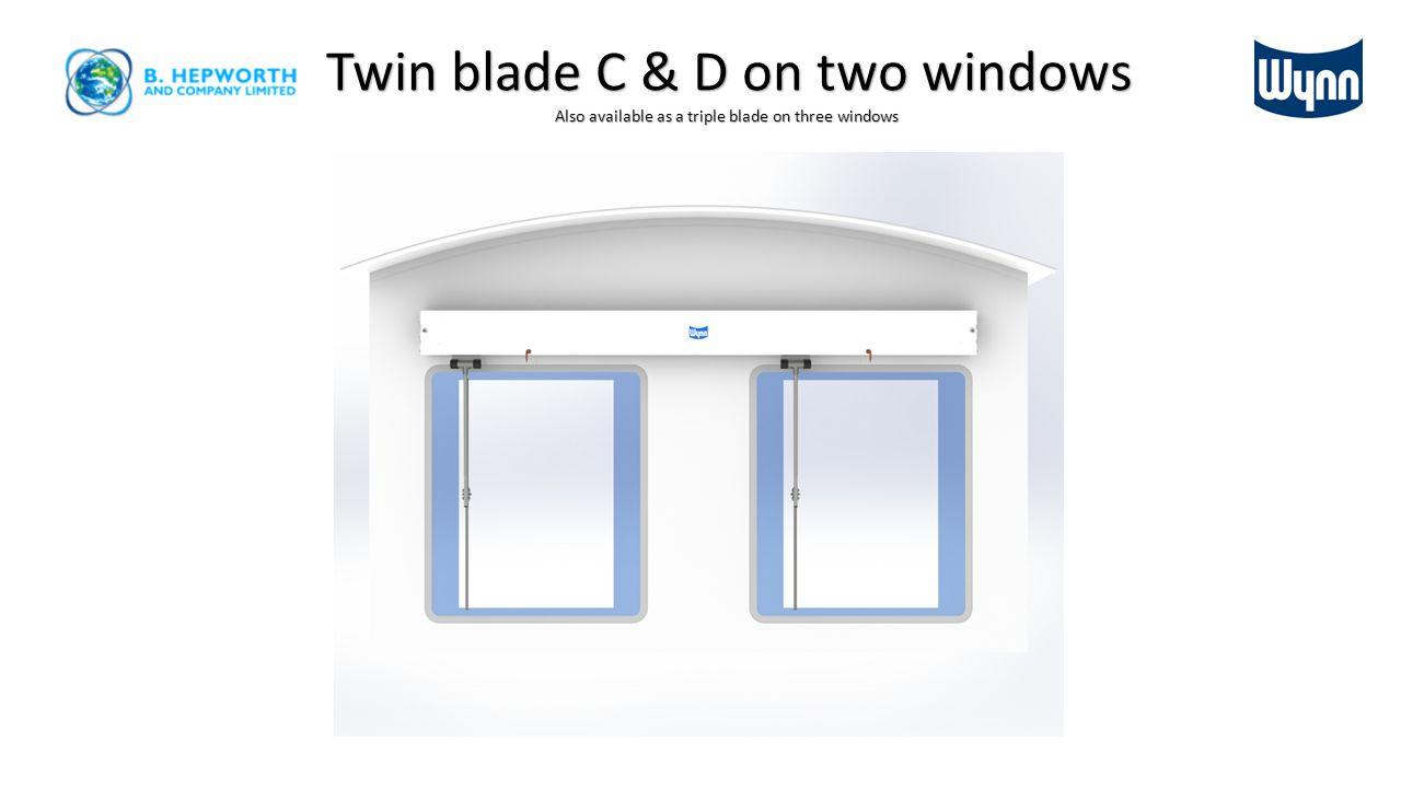 C & D double arm & blade configuration.