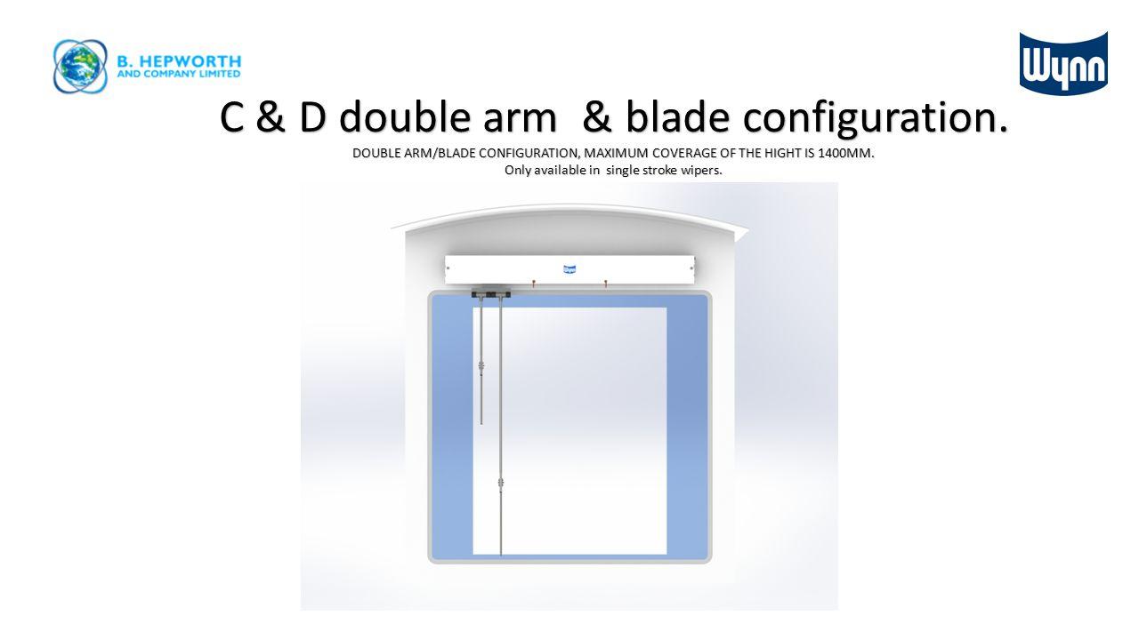 Type C & D straight line wiper dimensions Stroke length Case length = stroke + 282mm 131 mm