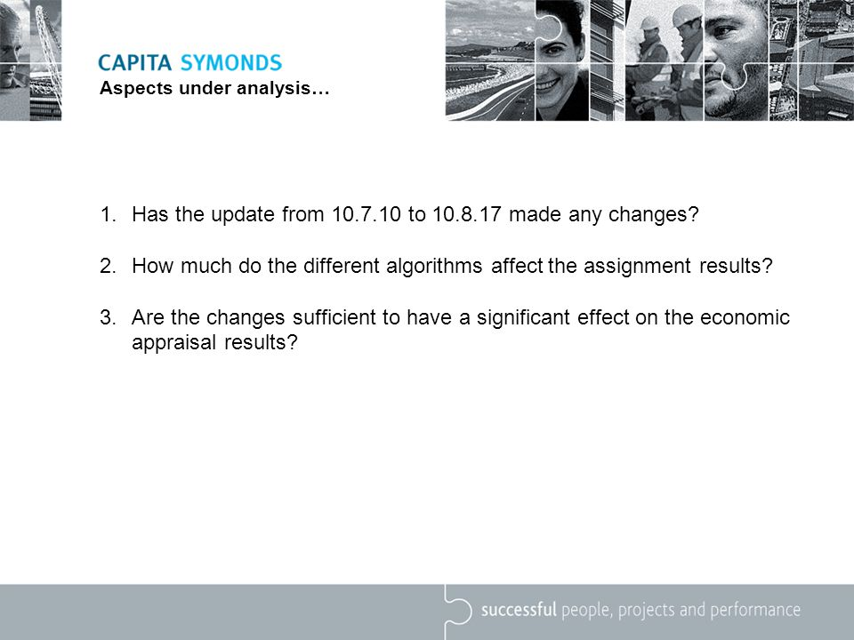 Aspects under analysis… 1.Has the update from 10.7.10 to 10.8.17 made any changes.