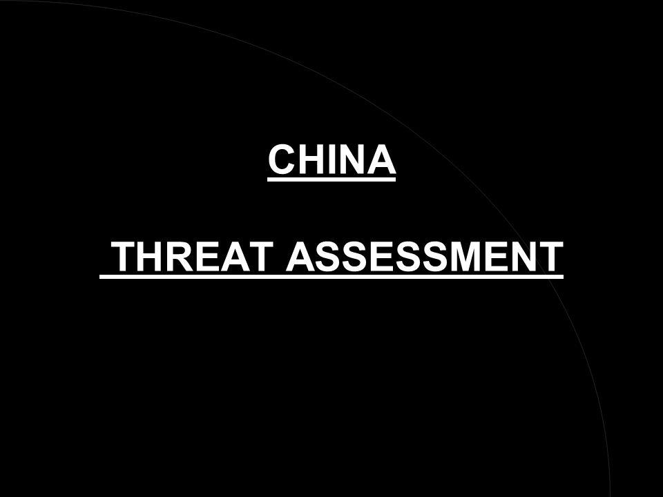 CHINA THREAT ASSESSMENT
