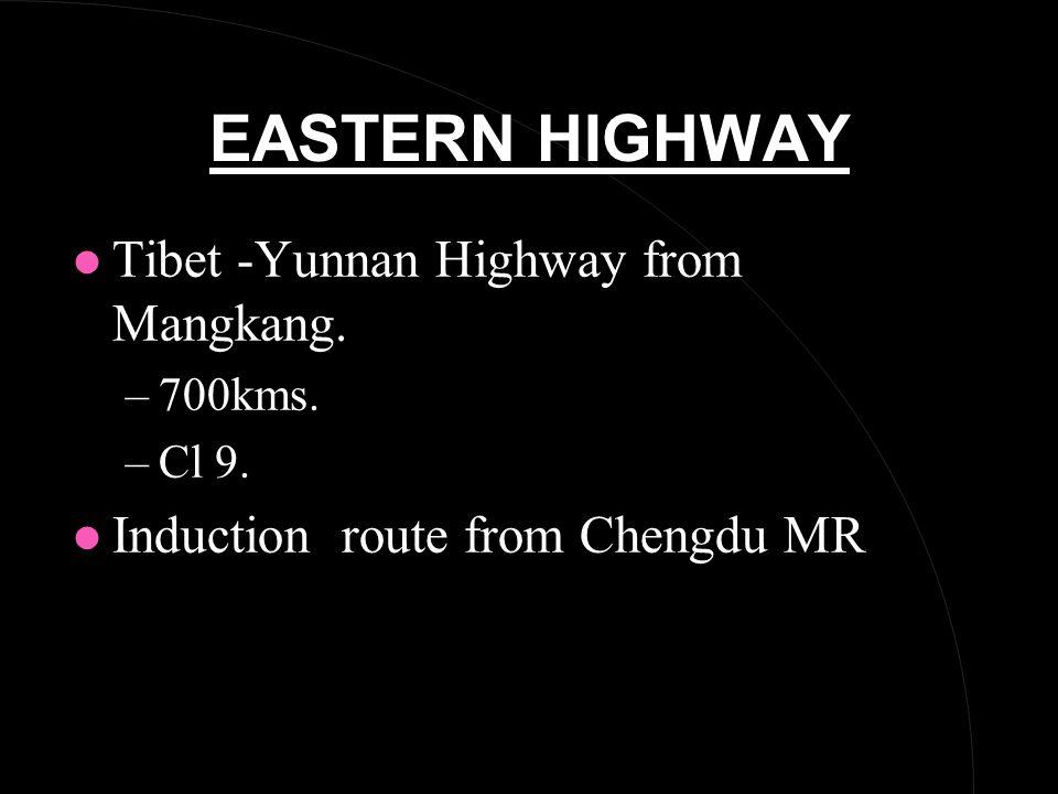 EASTERN HIGHWAY l Tibet -Yunnan Highway from Mangkang.