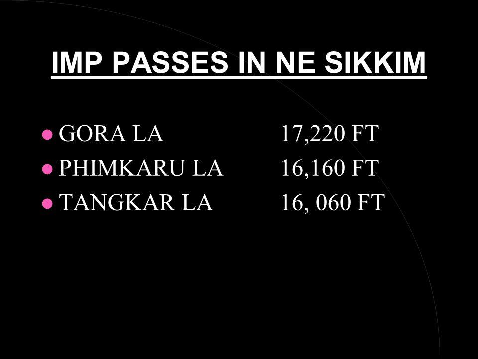 IMP PASSES IN NE SIKKIM l GORA LA17,220 FT l PHIMKARU LA16,160 FT l TANGKAR LA16, 060 FT
