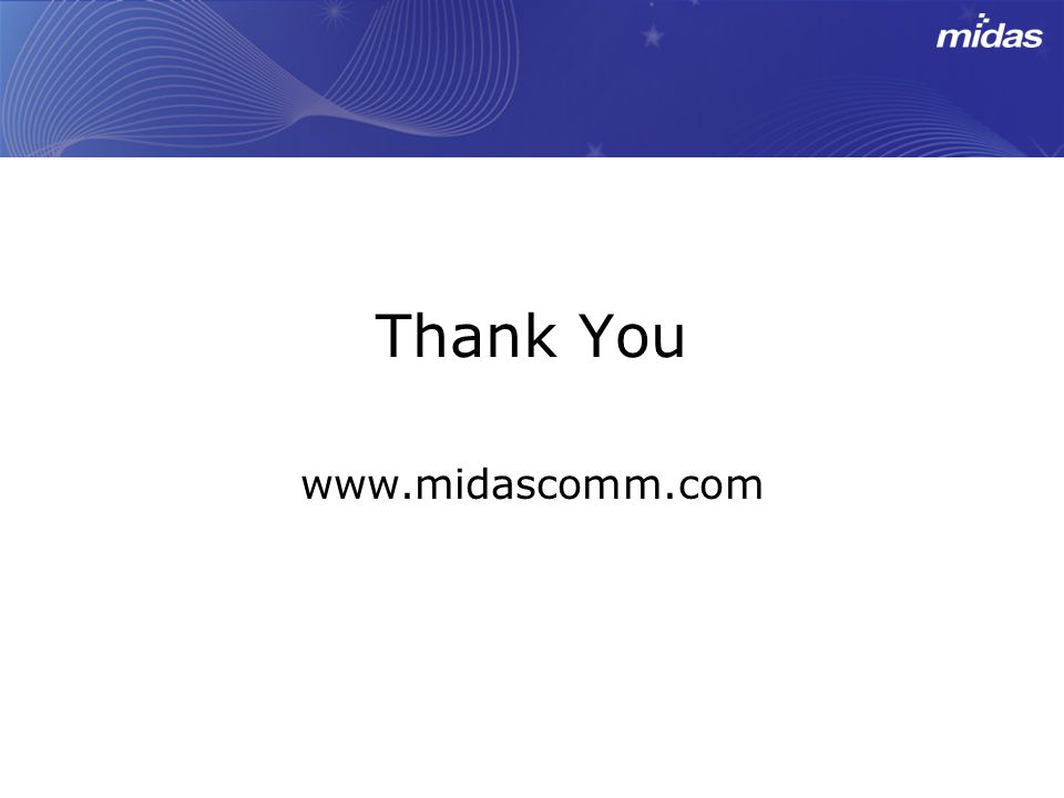 Thank You www.midascomm.com