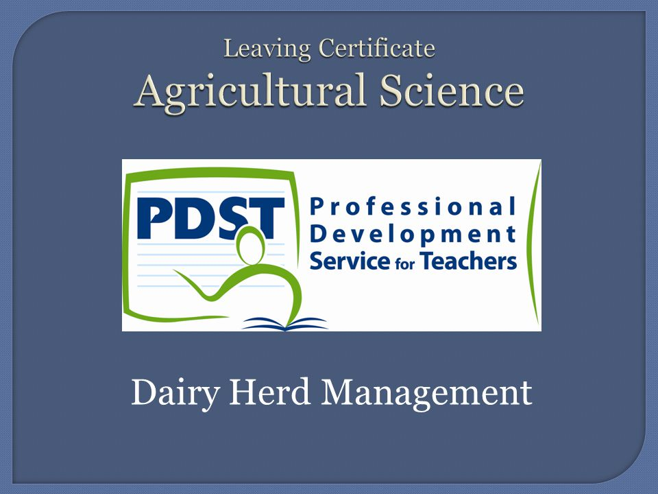 Dairy Herd Management