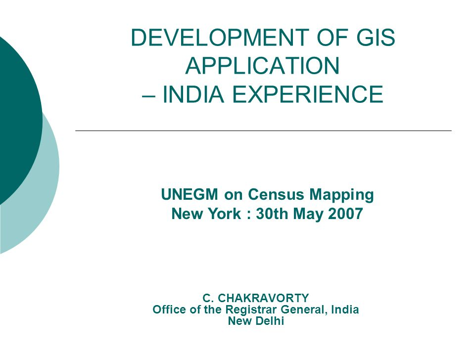 2 Contents o Indian Census – Brief background o Rural – Urban frame for census o GIS database design o Using digital geographic database for dissemination o Development of GIS application  CensusInfo India  Punjab GIS  Internet Census GIS India