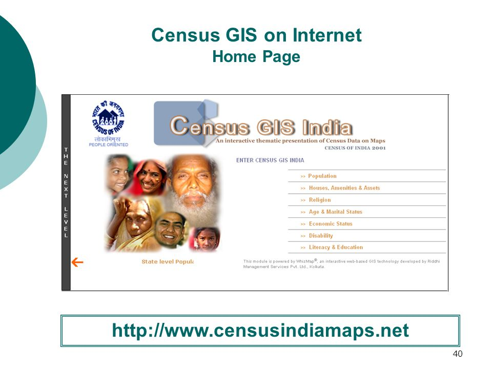 41 Census GIS India on Internet Template