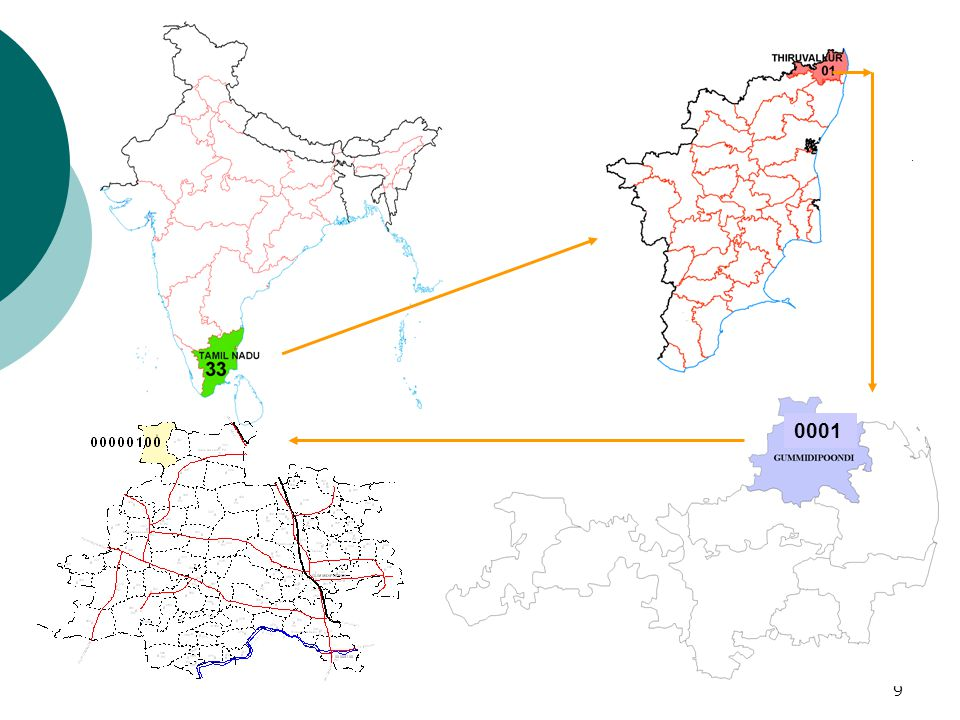10 GIS Database Design o GIS introduced in Indian Census in 1992 o Such software, as, ArcInfo, ArcView and ArcGIS have been extensively used o About 60 skilled professionals are engaged in GIS related work in 17 centres located in different parts of the country.