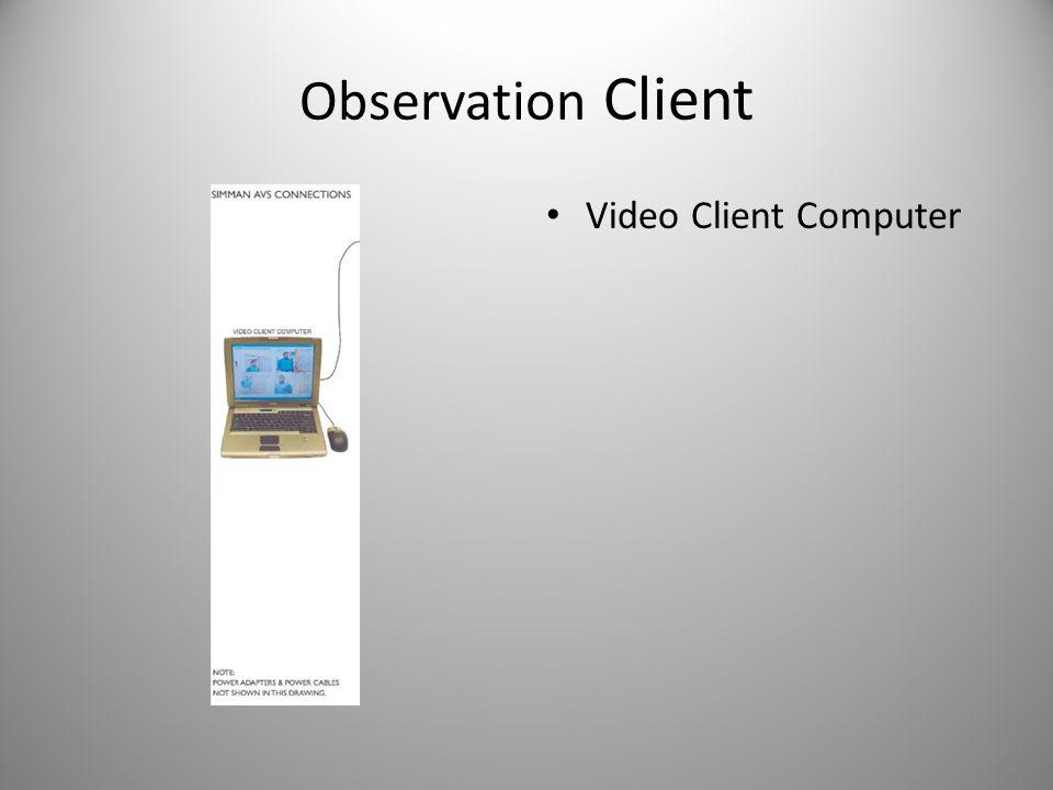 Observation Client Video Client Computer