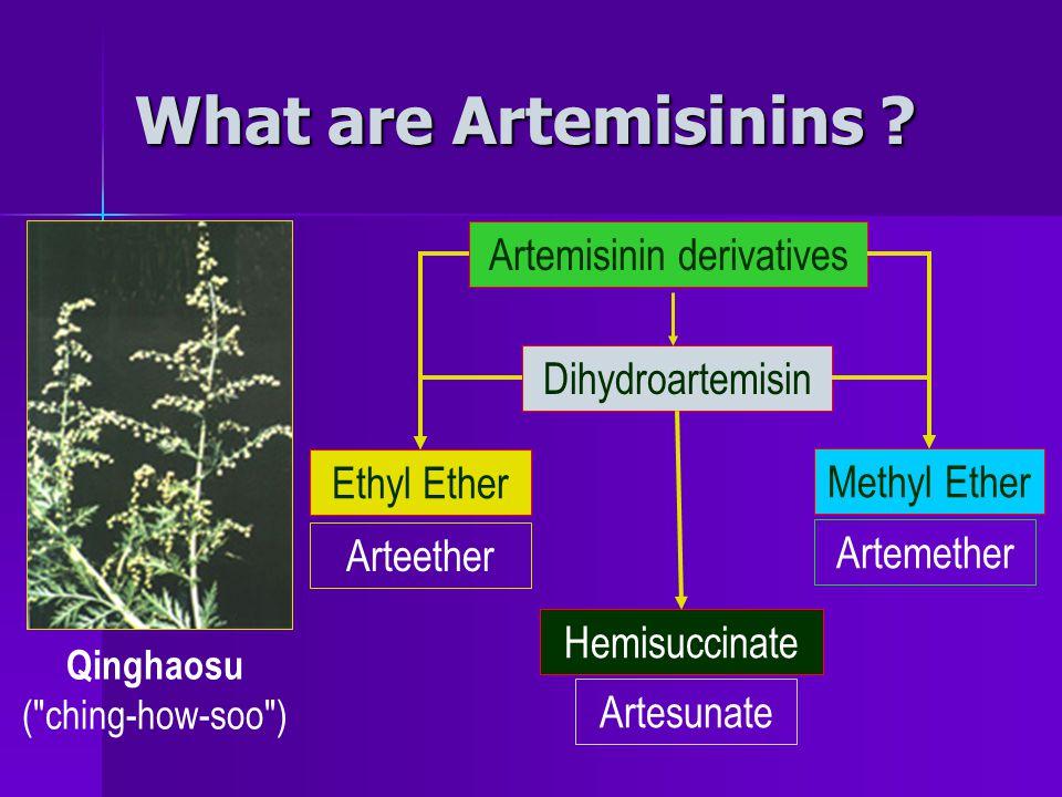 What are Artemisinins .