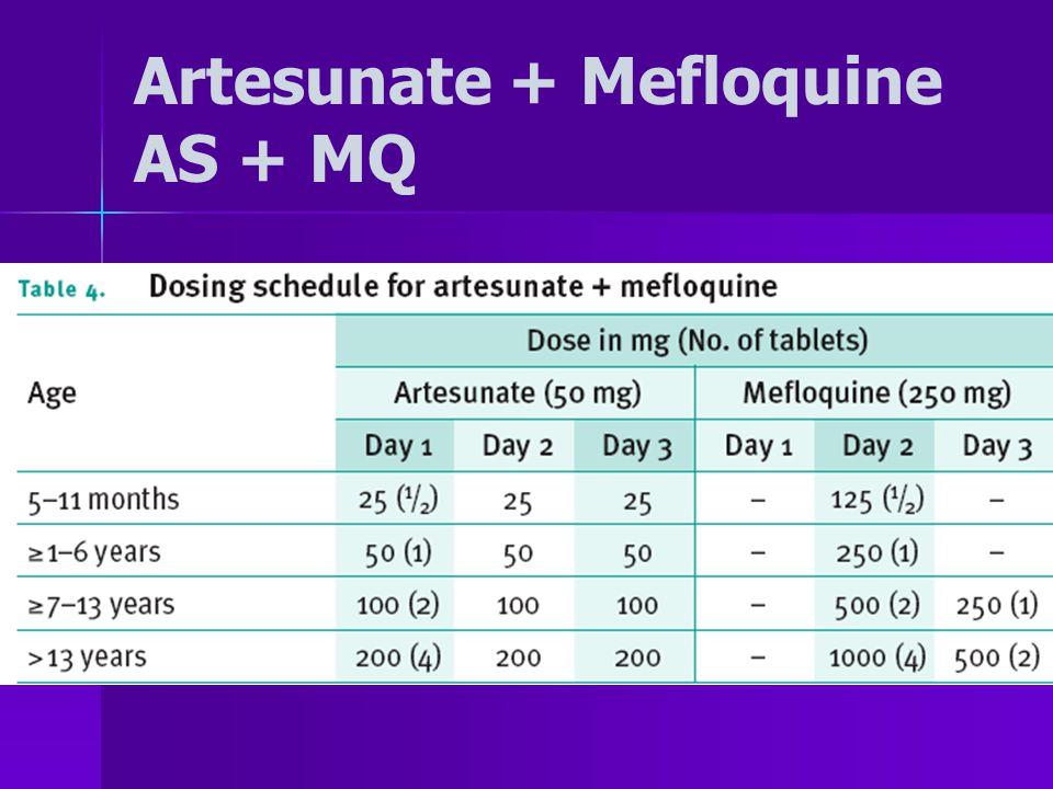 Artesunate + Mefloquine AS + MQ