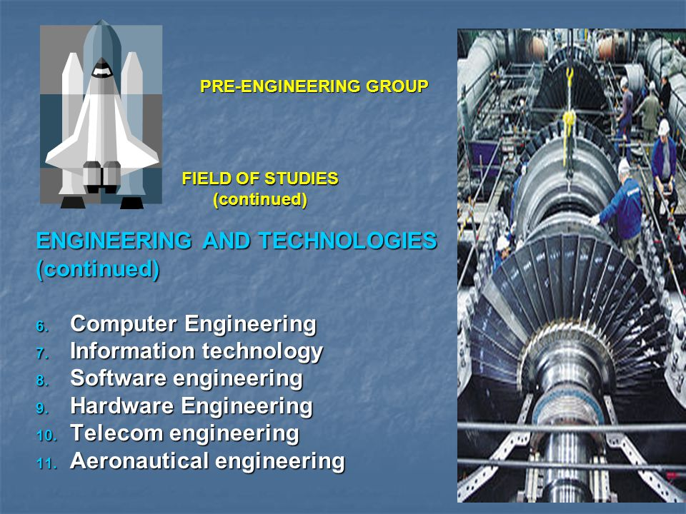 FIELD OF STUDIES continued SIND (CNTINUED) SIND (CNTINUED)  Dawood College of Engineering and Technology, Karachi Campus (Mehran University of Engineering and Technology, Jamshoro) B.E.