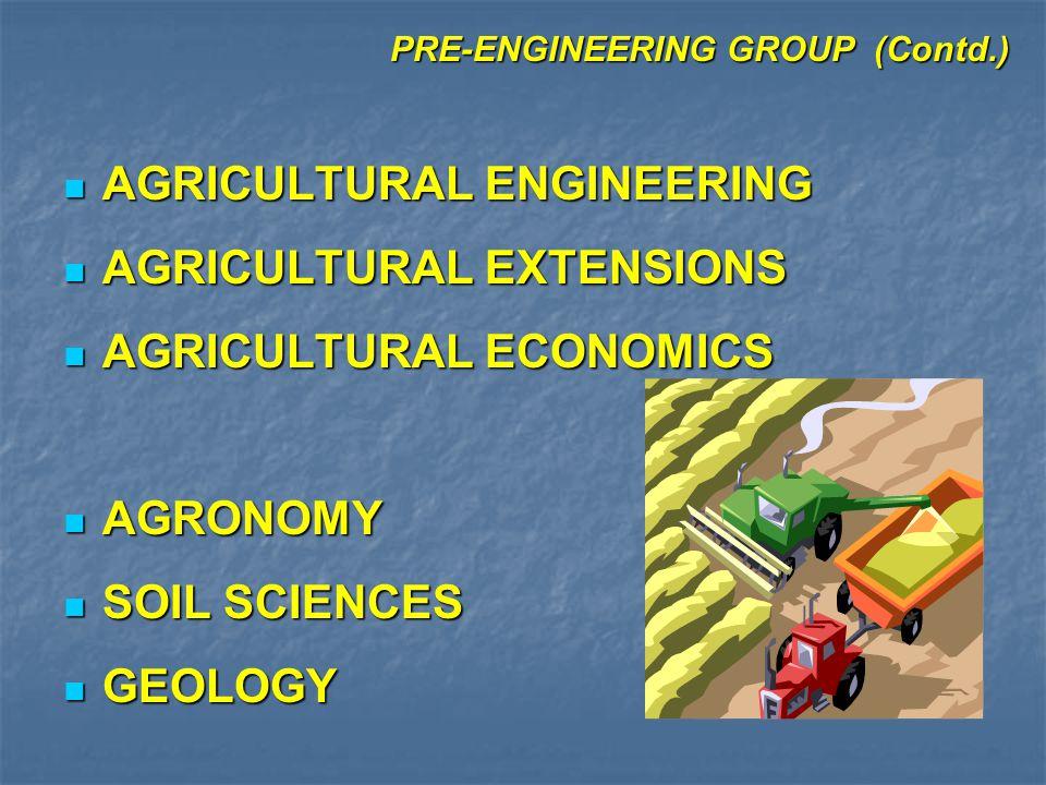 PRE-ENGINEERING GROUP (Contd.) MATHEMATICS MATHEMATICS PHYSICS PHYSICS EDUCATION EDUCATION HEALTH & PHYSICAL EDUCATION HEALTH & PHYSICAL EDUCATION ENGLISH ENGLISH URDU URDU