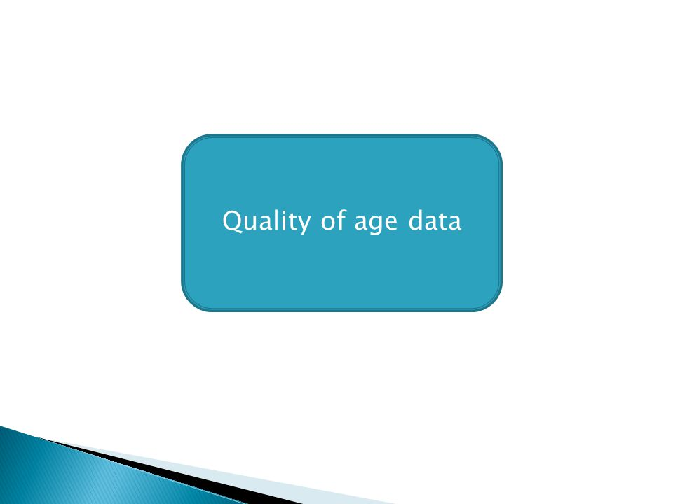 Quality of age data
