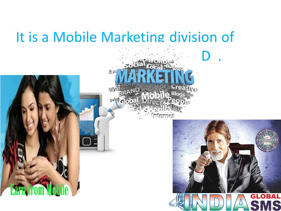 It is a Mobile Marketing division of FORBS MARKETING LTD.